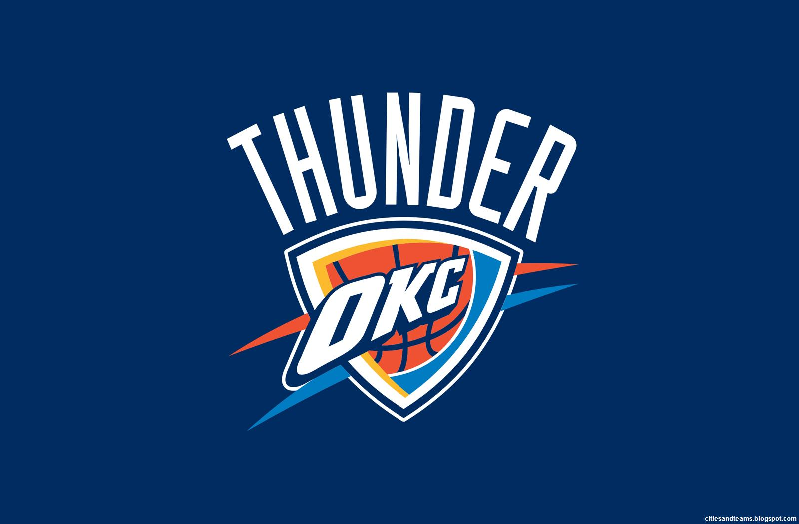 Oklahoma City Thunder NBA 2012 Finalist OKC Logo HD Desktop Wallpaper 1600x1050