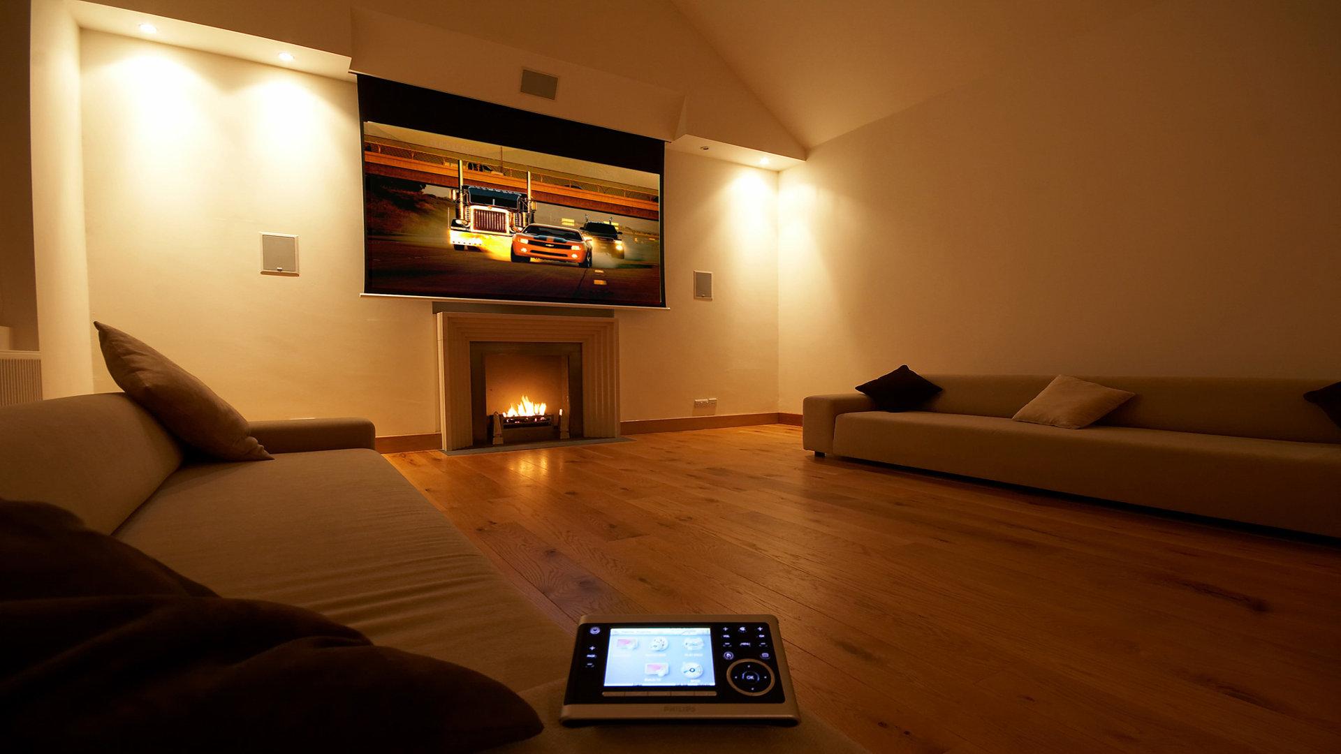 Home theater wallpaper wallpapersafari for Home wallpaper view