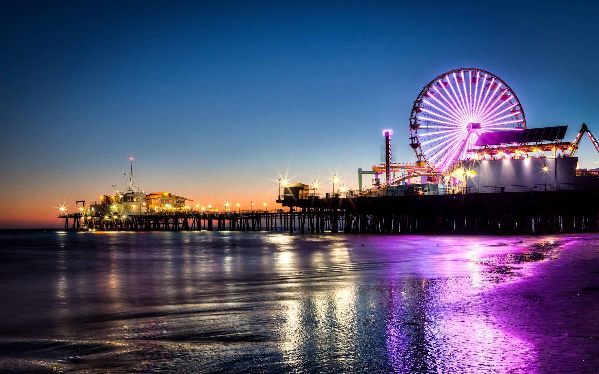 Los Angeles beach at night 1920 x 1200 Locality Photography 1920x1200