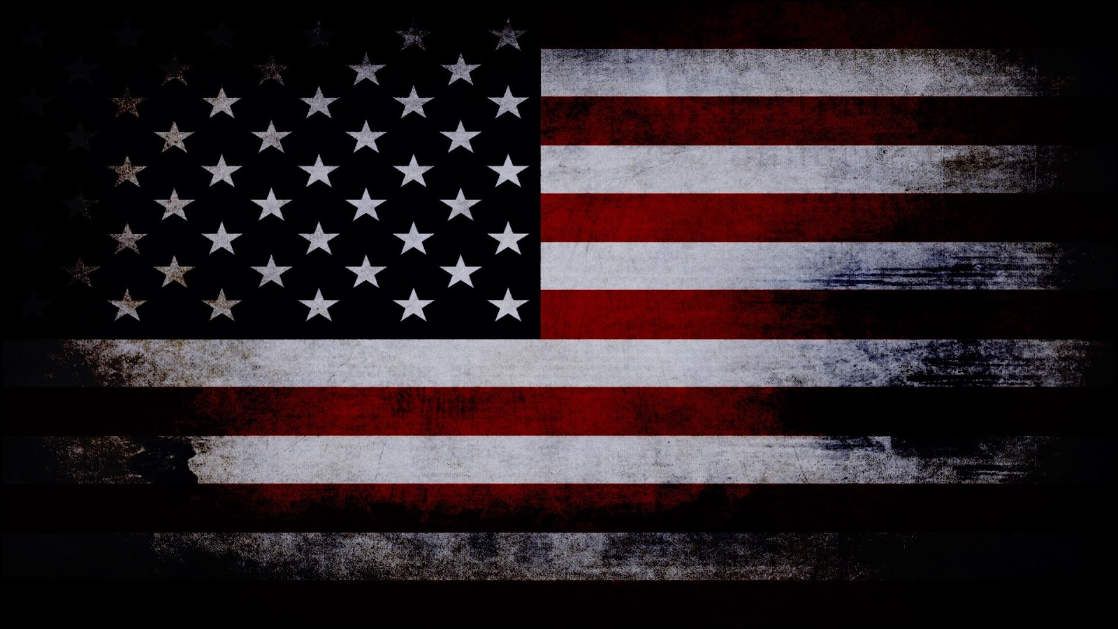 Old American Flag With Black Background HD wallpaper 1600x900