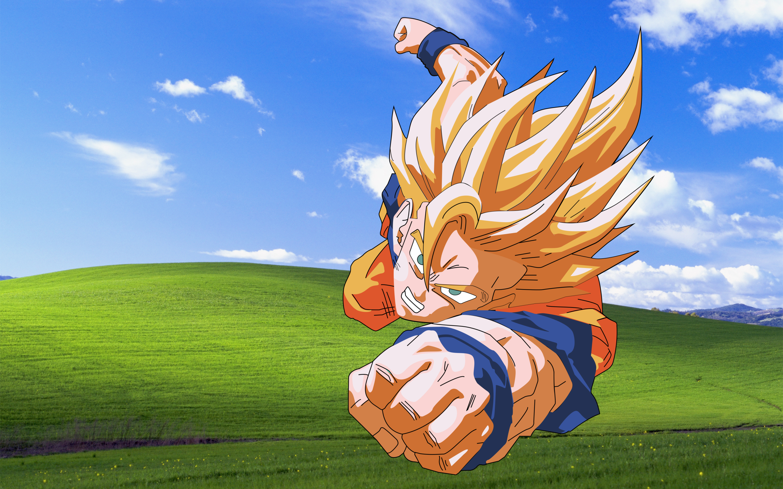 Dragon Ball Z Goku Windows 7 Wallpaper Id 5104 Frenziacom 2560x1600