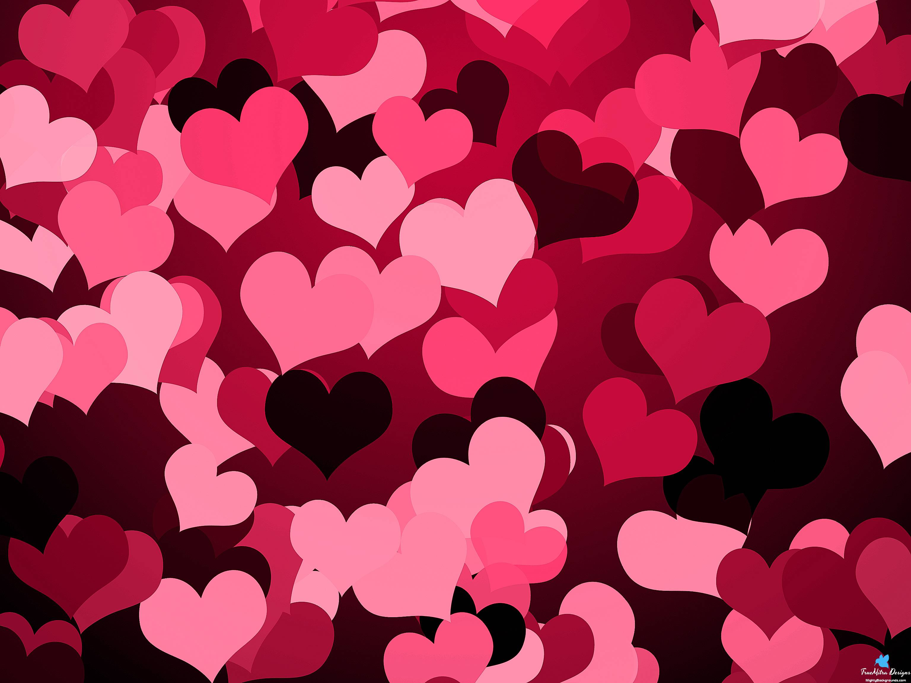 Hearts Backgrounds 3072x2304