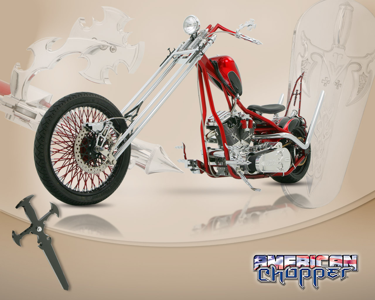 American chopper   Orange County Choppers Wallpaper 124422 1280x1024