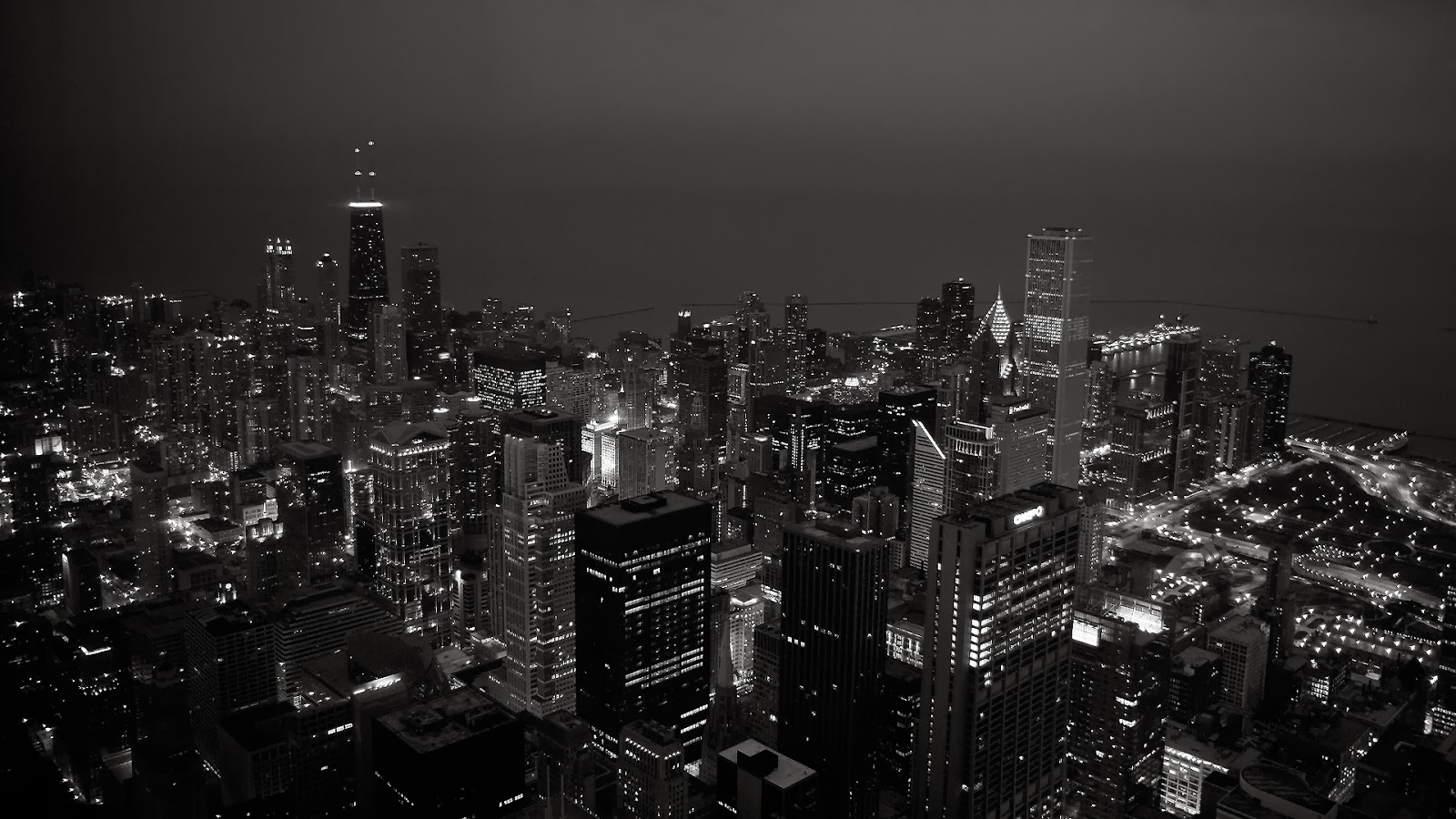 City view at night live wallpaper Wallpaper view 1600x900