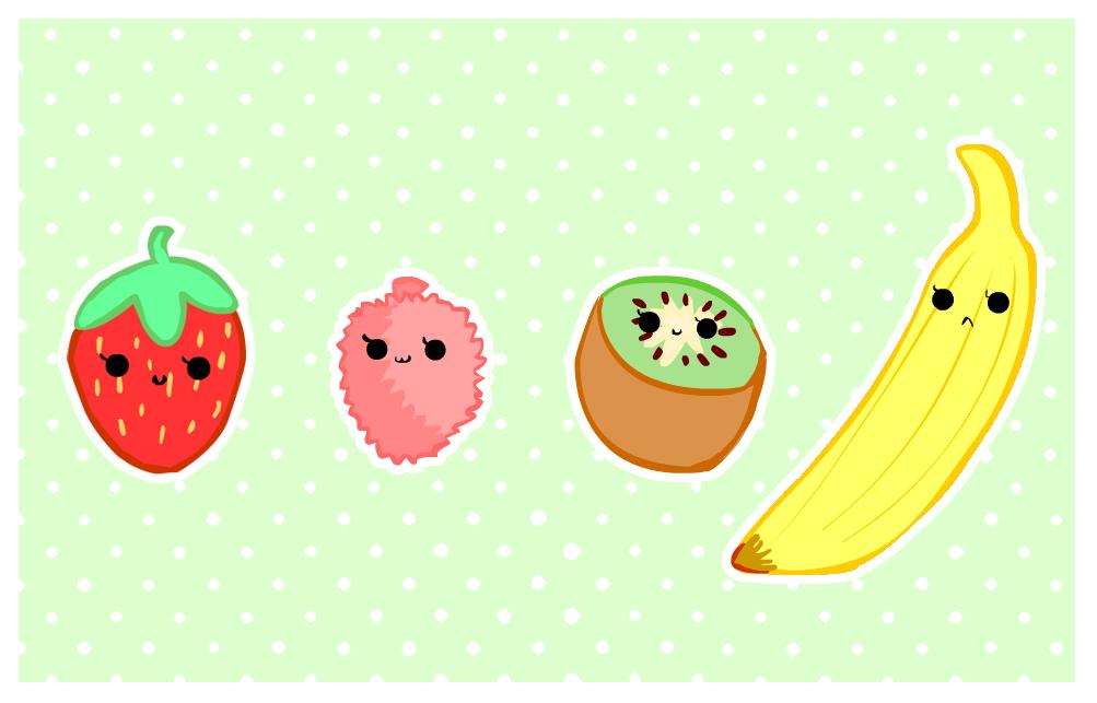 cute foods   fruit selection by purapea 1003x643