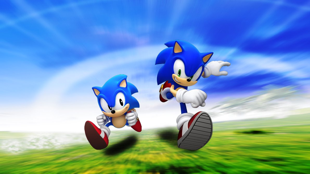 Free Download Classic And Modern Sonic By Light Rock 1192x670 For Your Desktop Mobile Tablet Explore 49 Classic Sonic Wallpaper Sonic Wallpapers For Desktop Shadow The Hedgehog Wallpaper Sonic