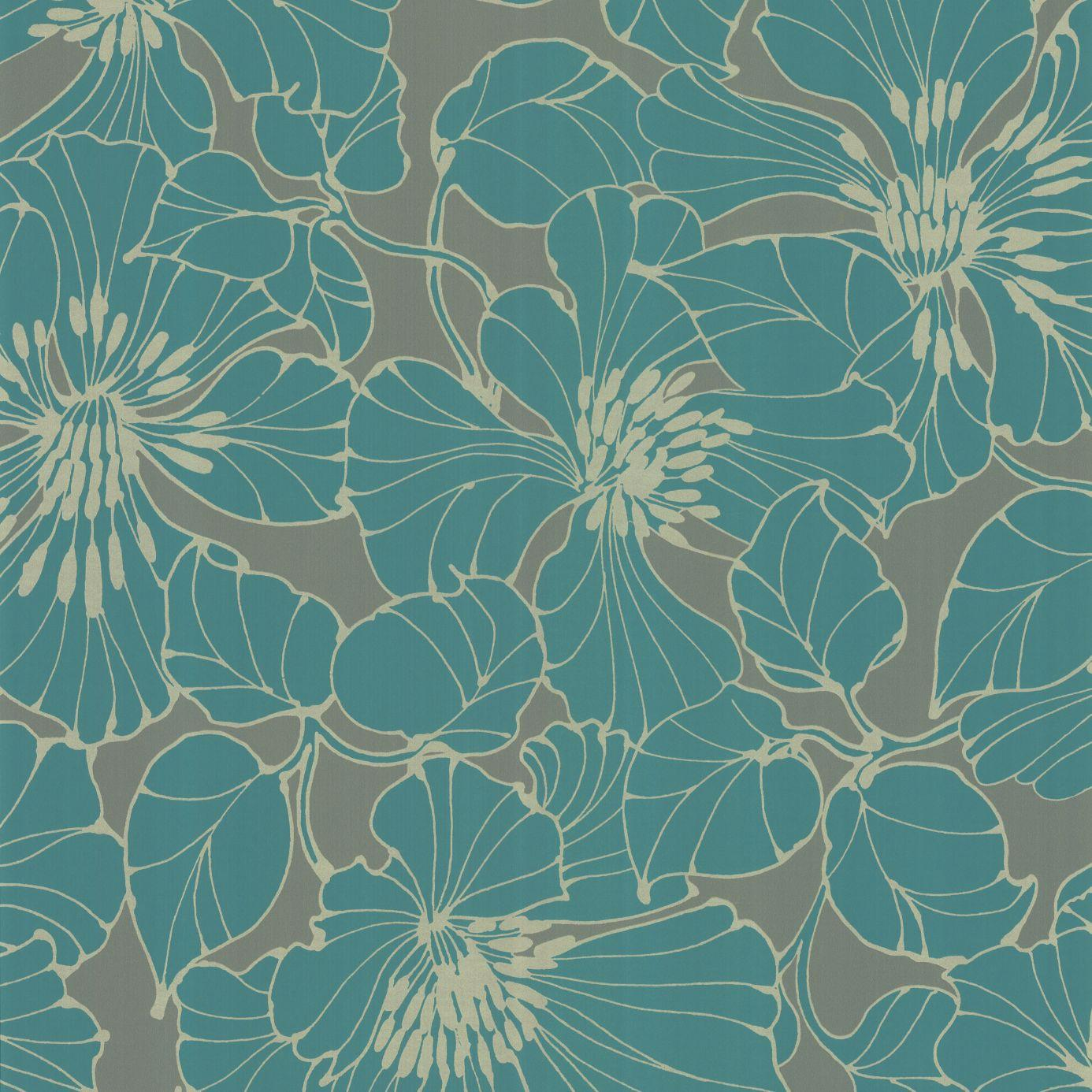 Turquoise And Silver Wallpaper Wallpapersafari