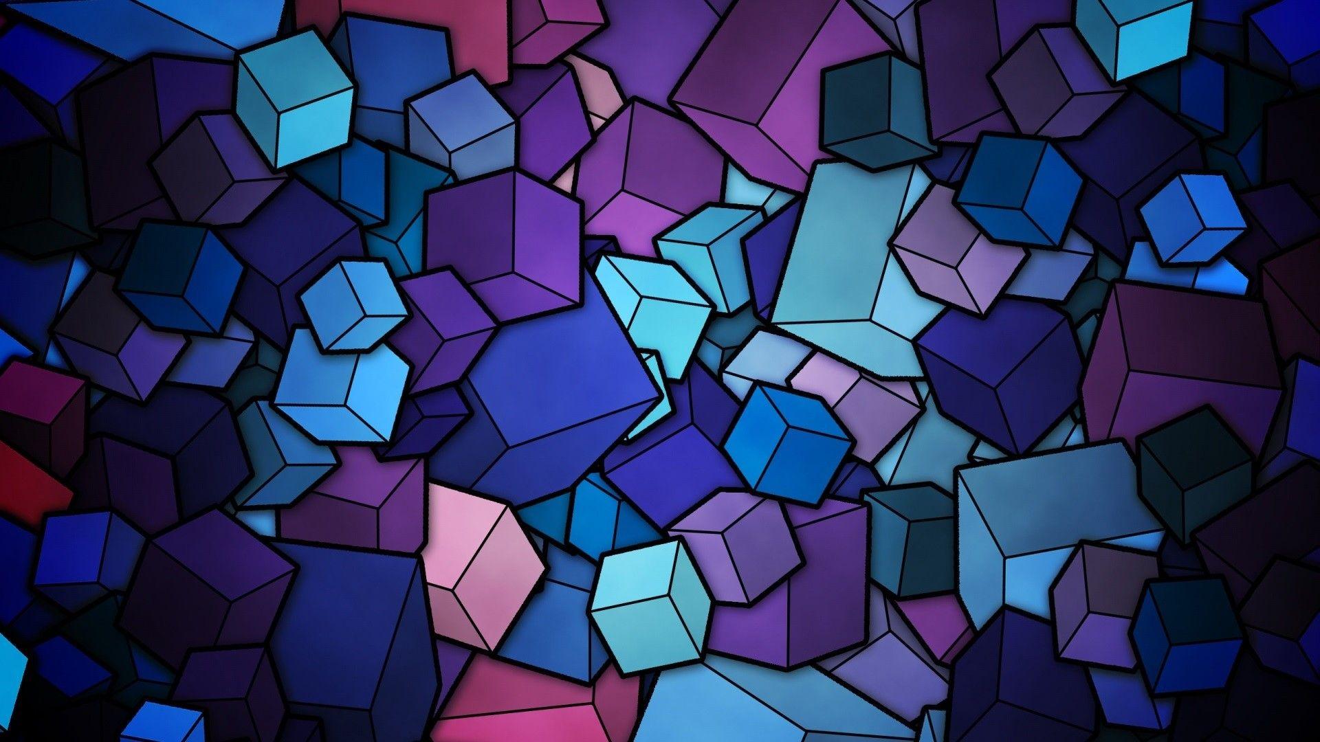 Geometry Cubes HD Wallpaper FullHDWpp   Full HD Wallpapers 1920x1080