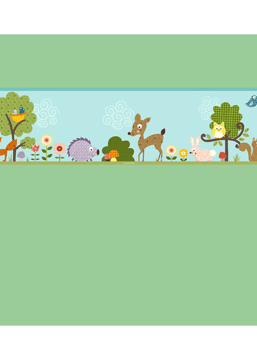 Woodland Animals Wallpaper Border Wallpapersafari