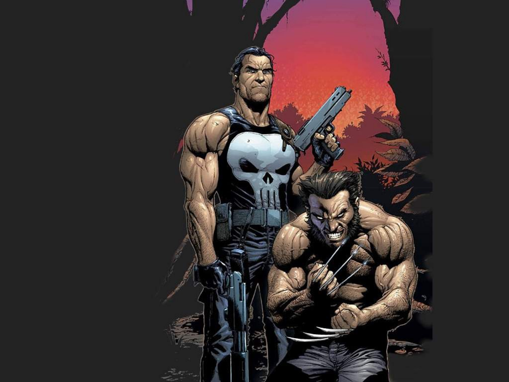 Punisher and Wolverine Wallpaper 1024x768