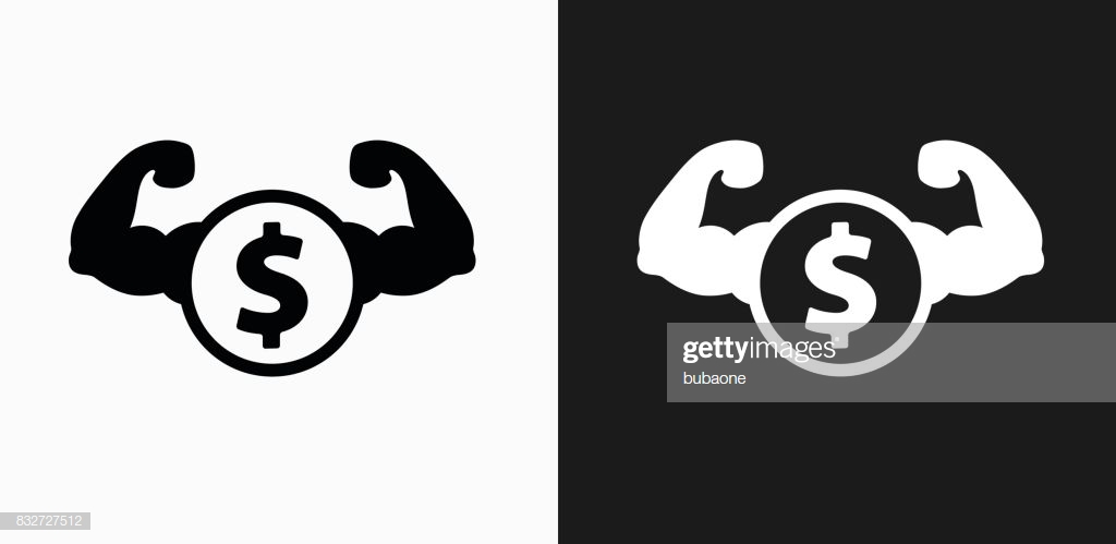 Tough Money Icon On Black And White Vector Backgrounds High Res 1024x499