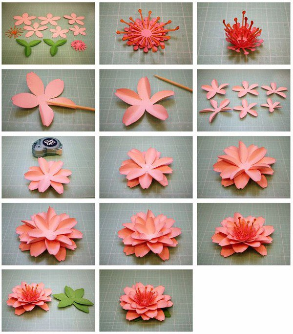 Easy paper origami flowers choice image flower decoration ideas amazing paper folding flowers step by step elaboration top wedding folding origami flowers image collections flower mightylinksfo