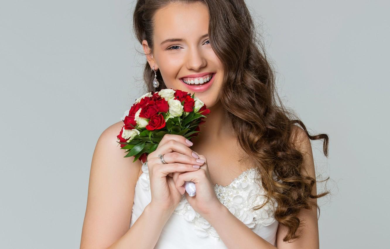 Wallpaper joy happiness flowers smile background portrait 1332x850