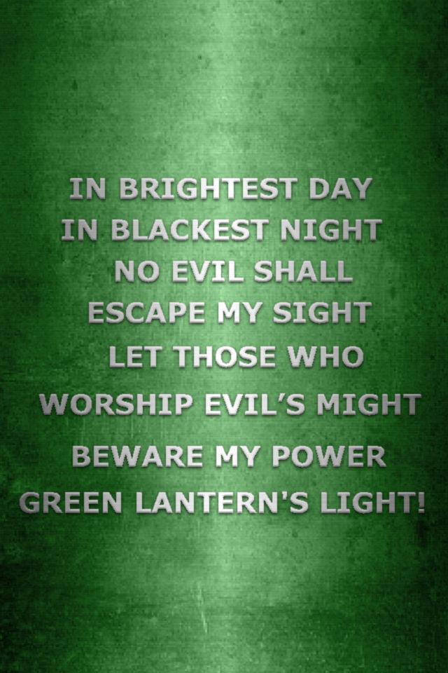 Metallic Green Lantern Oath by KalEl7 640x960