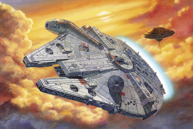 Star Wars   Millennium Falcon Clouds   Wall Mural Photo Wallpaper 620x413