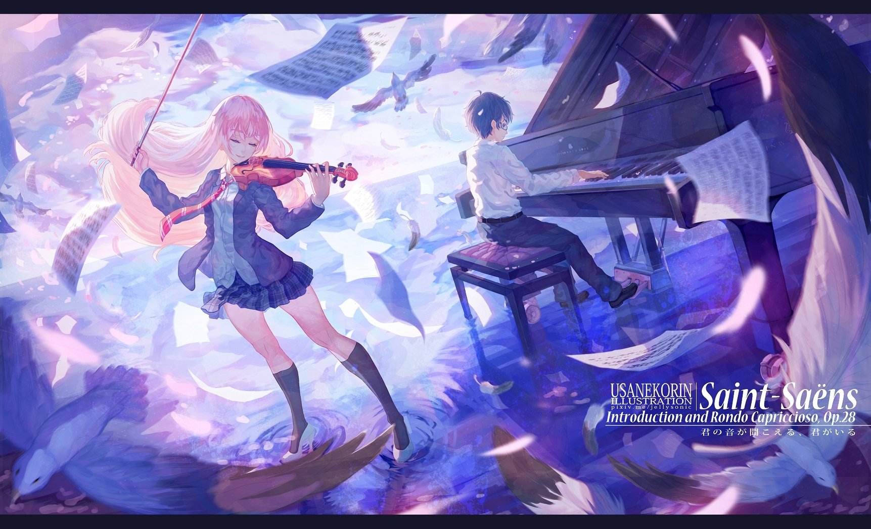 895 Your Lie in April HD Wallpapers Background Images 1723x1047