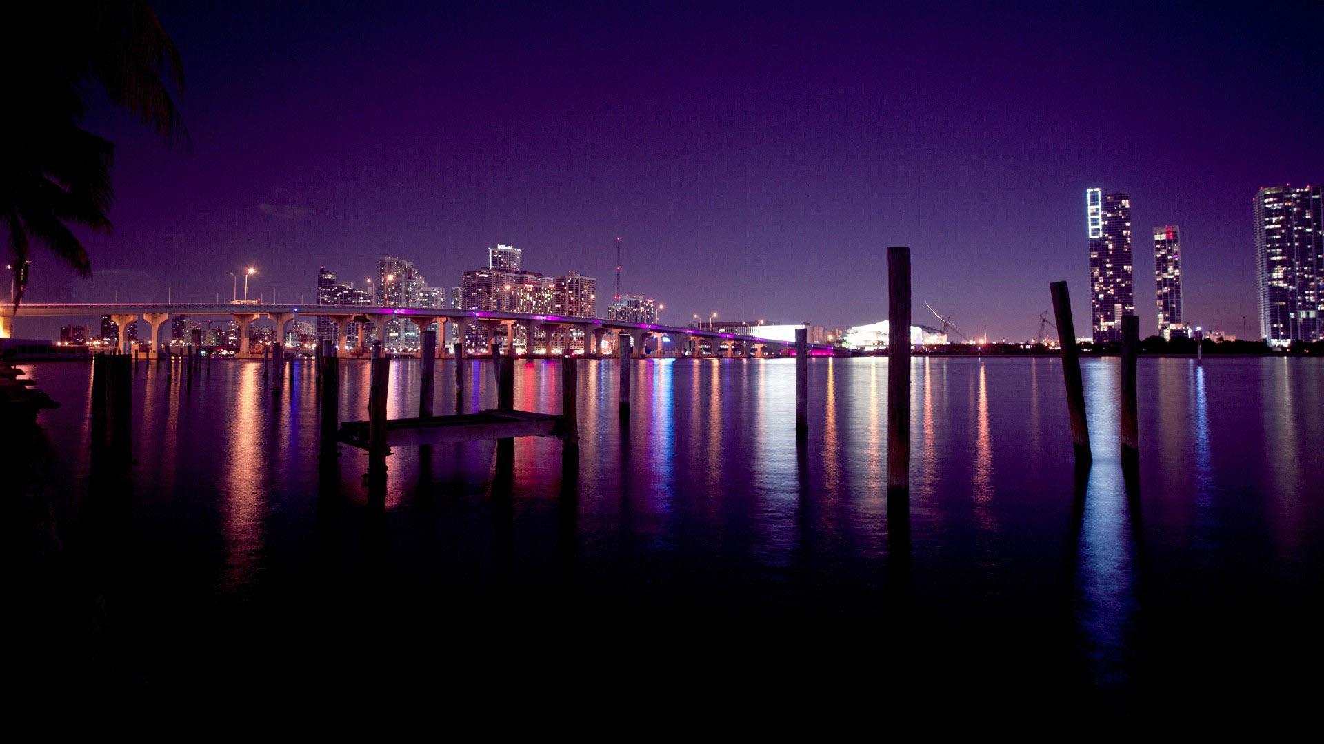 Miami Skyline wallpaper 11945 1920x1080