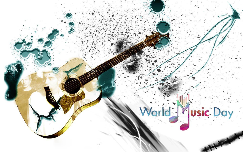 Happy World Music Day New Guitar Hd Wallpaper 1440x900