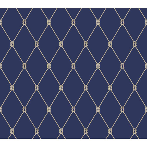 Blue And White Knot Trellis Wallpaper York Wallcoverings Wallpaper 500x500