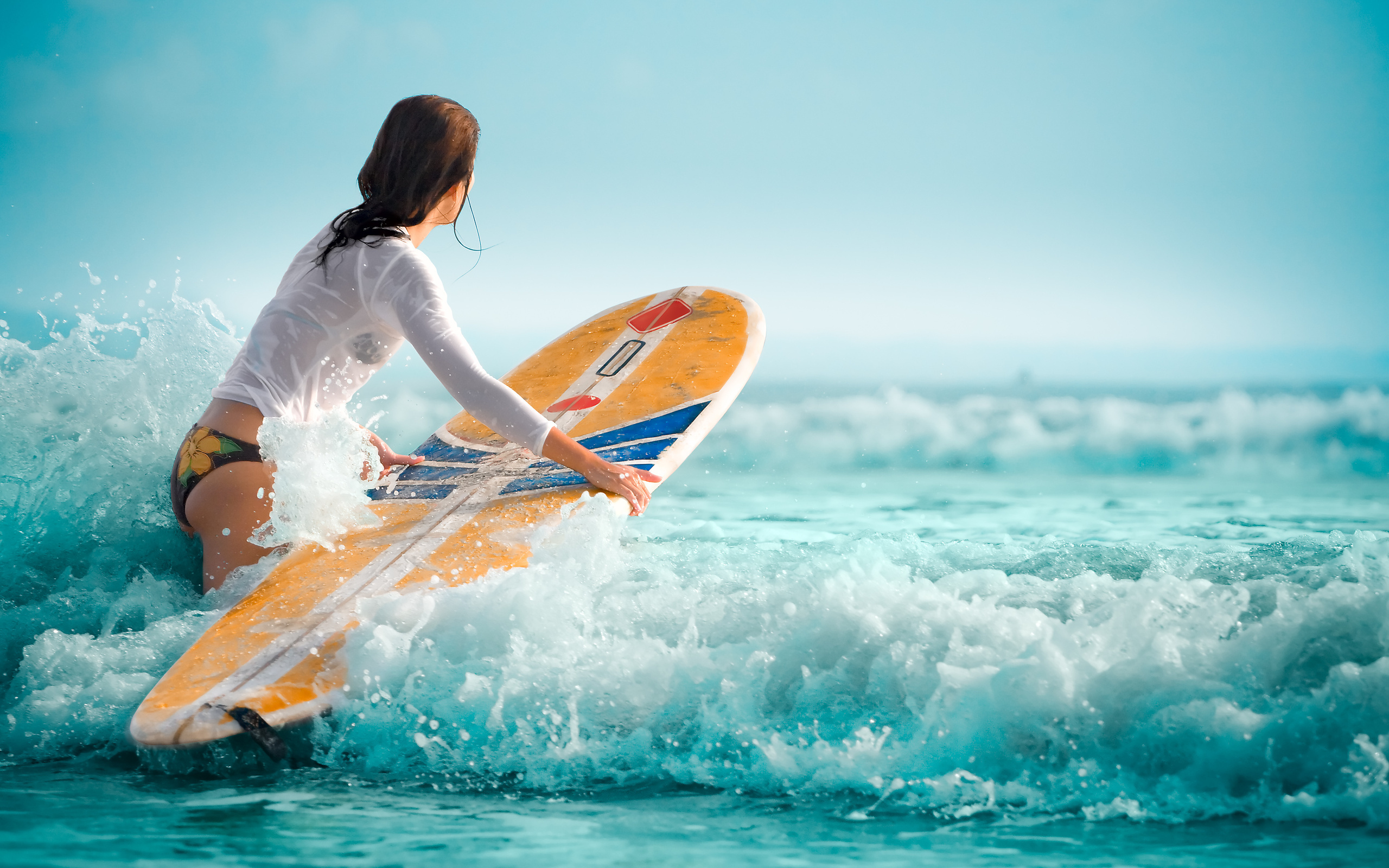girl surfing wallpaper for computer walljpegcom 2560x1600