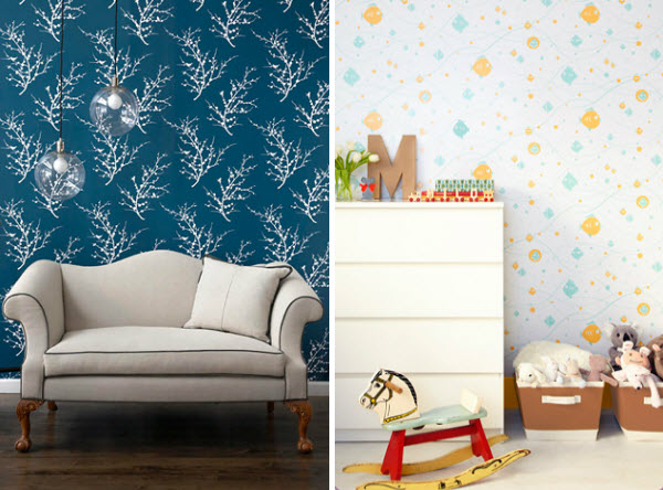 Temporary Movable Wallpaper HGTV Design Blog Design Happens 600x444