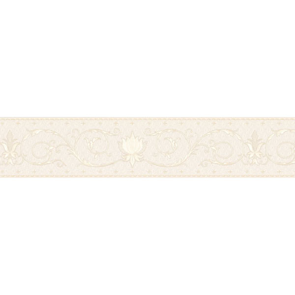451 1767 Pearl Fleur De Lis Scroll   Brewster Wallpaper Borders 600x600