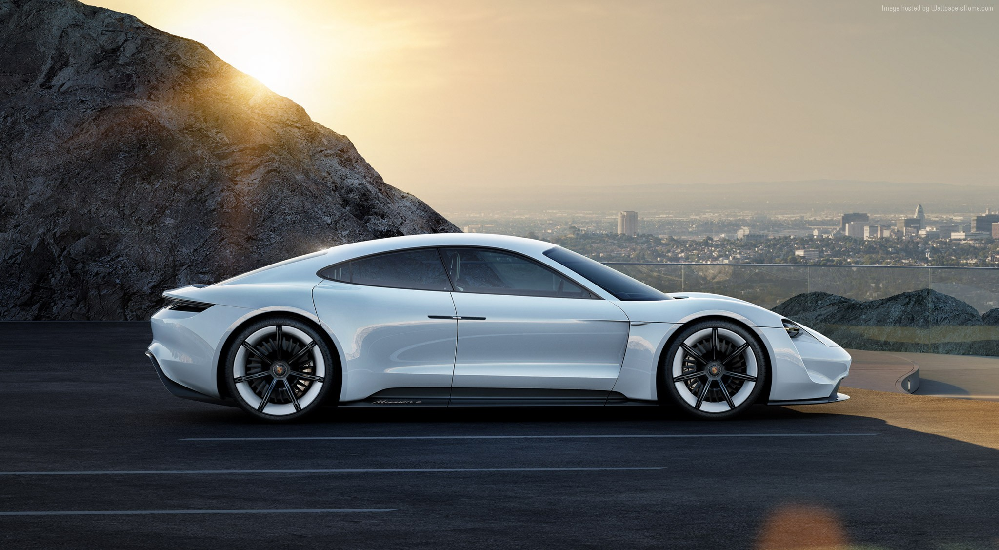 100907 white supercar Porsche Taycan 800v Electric Cars 2048x1127