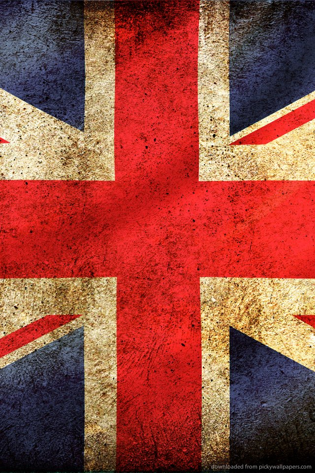 British Flag Wallpaper For Iphone Uk great britain flag for 640x960