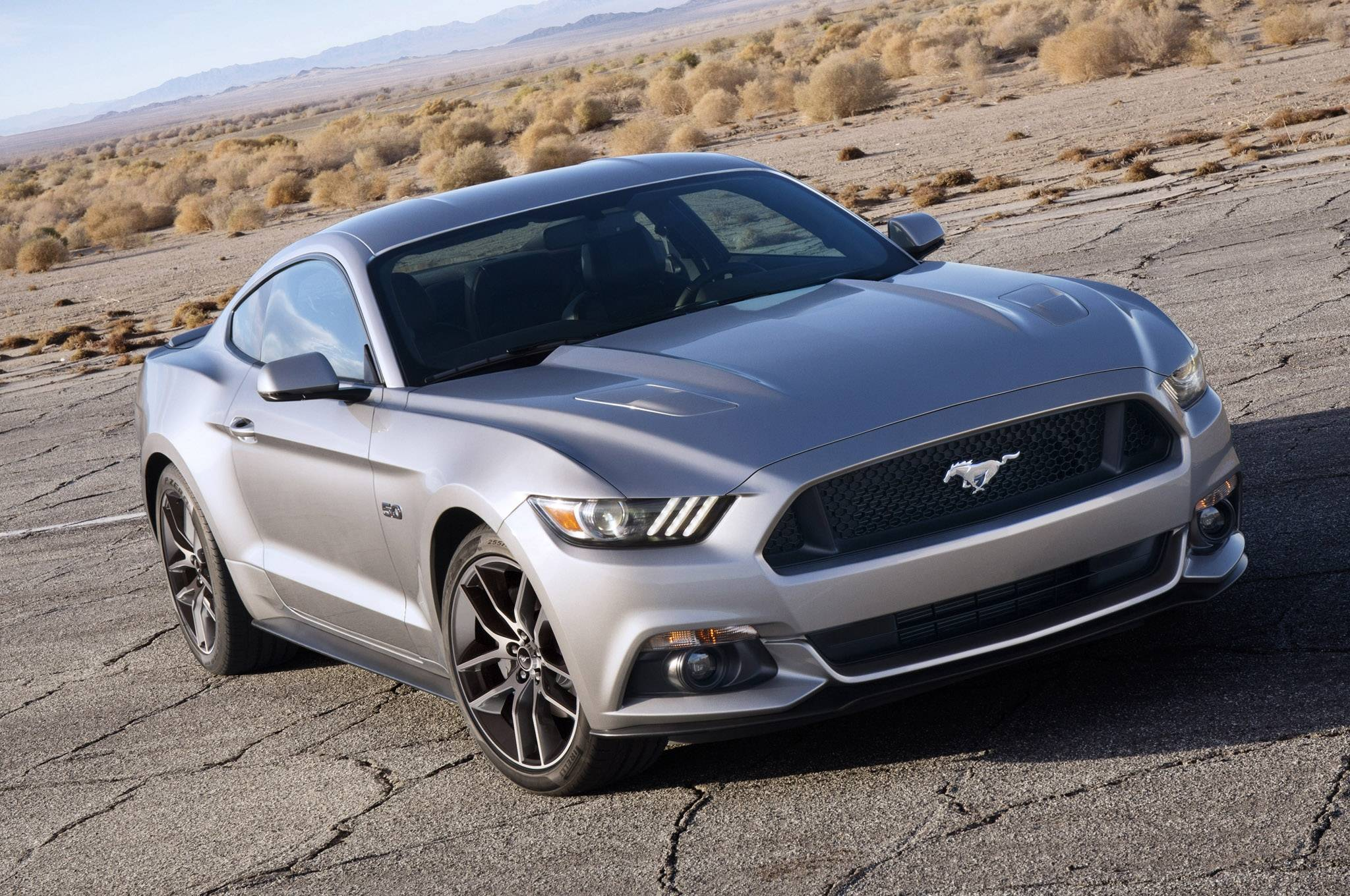 2015 Ford Mustang GT Silver Wallpaper 8734 Cool Car Wallpapers 2048x1360