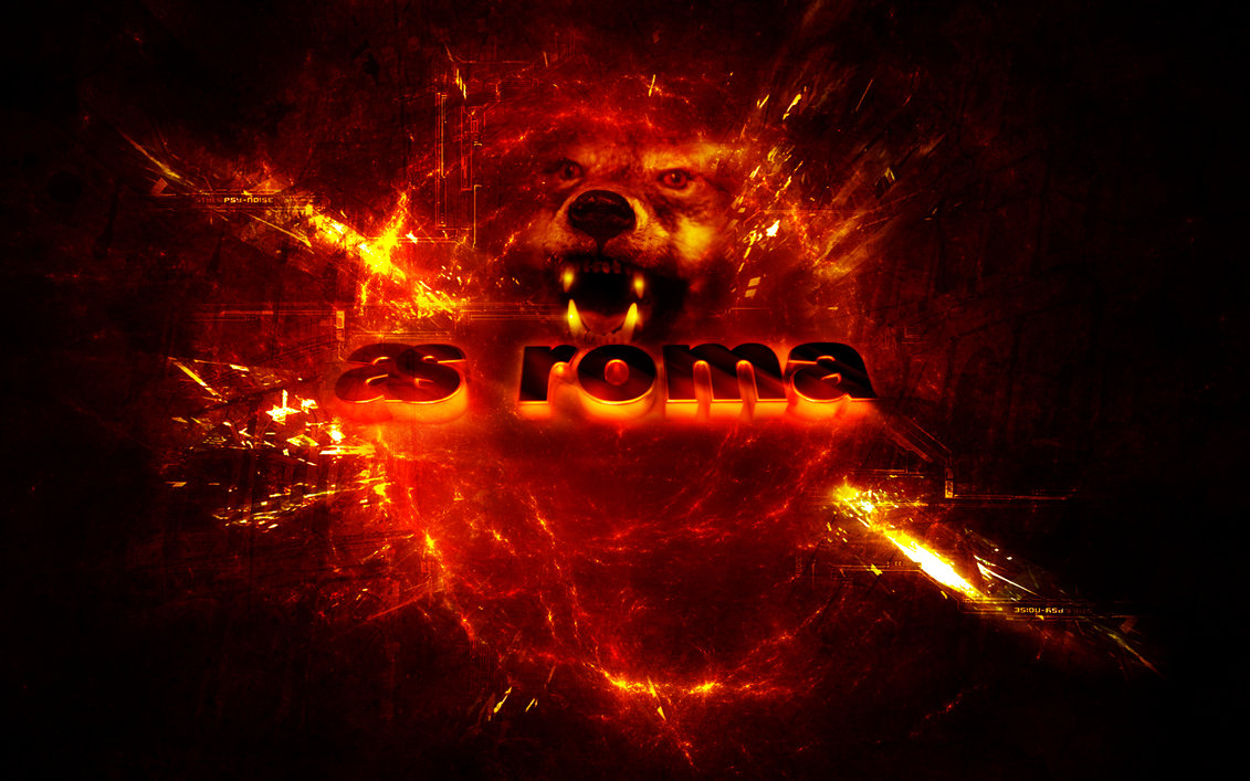 AS ROMA Wallpaper Wolf by Belthazor78 1131x707