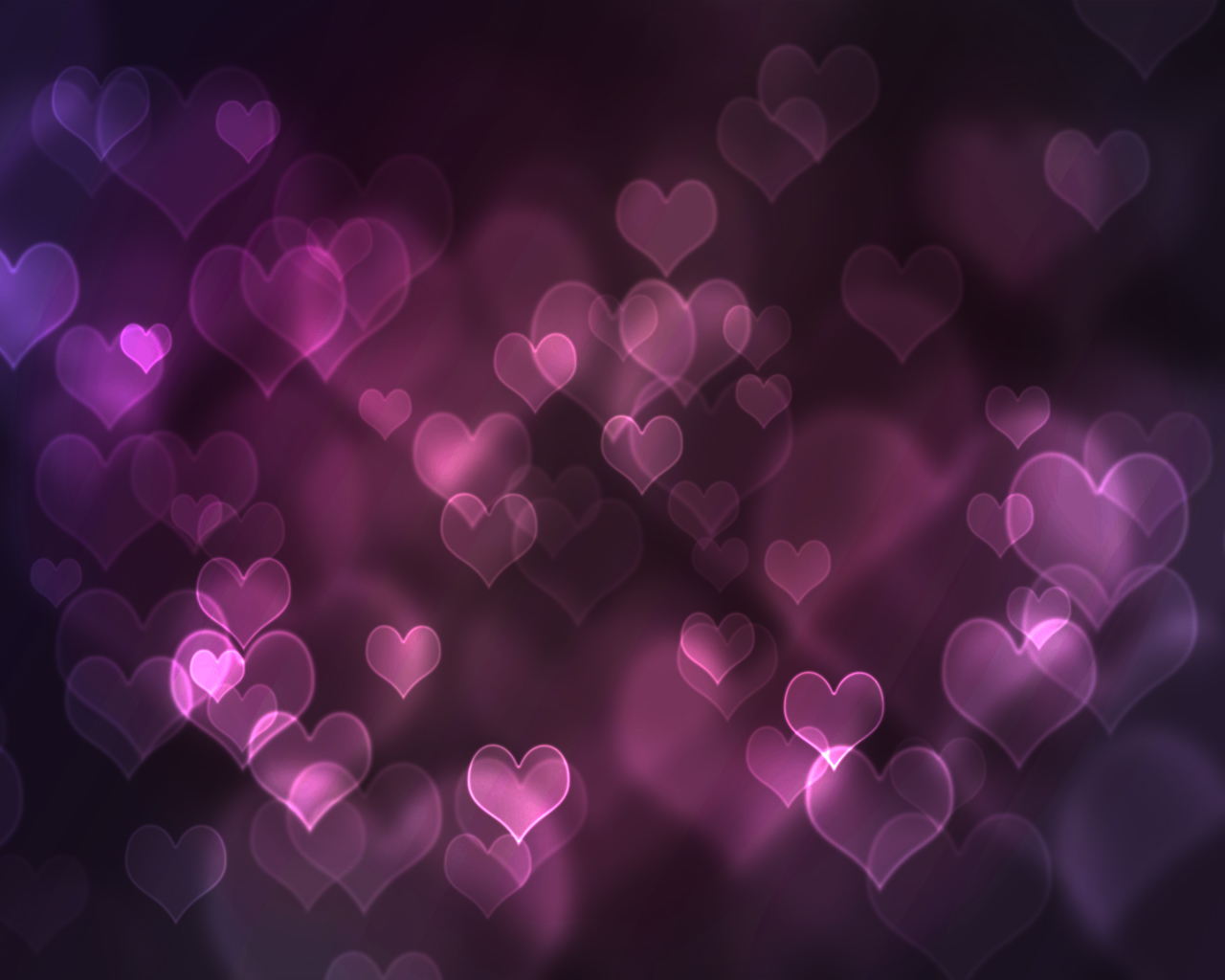 Purple Hearts Design Purple Background Wallpapers Purple 1280x1024