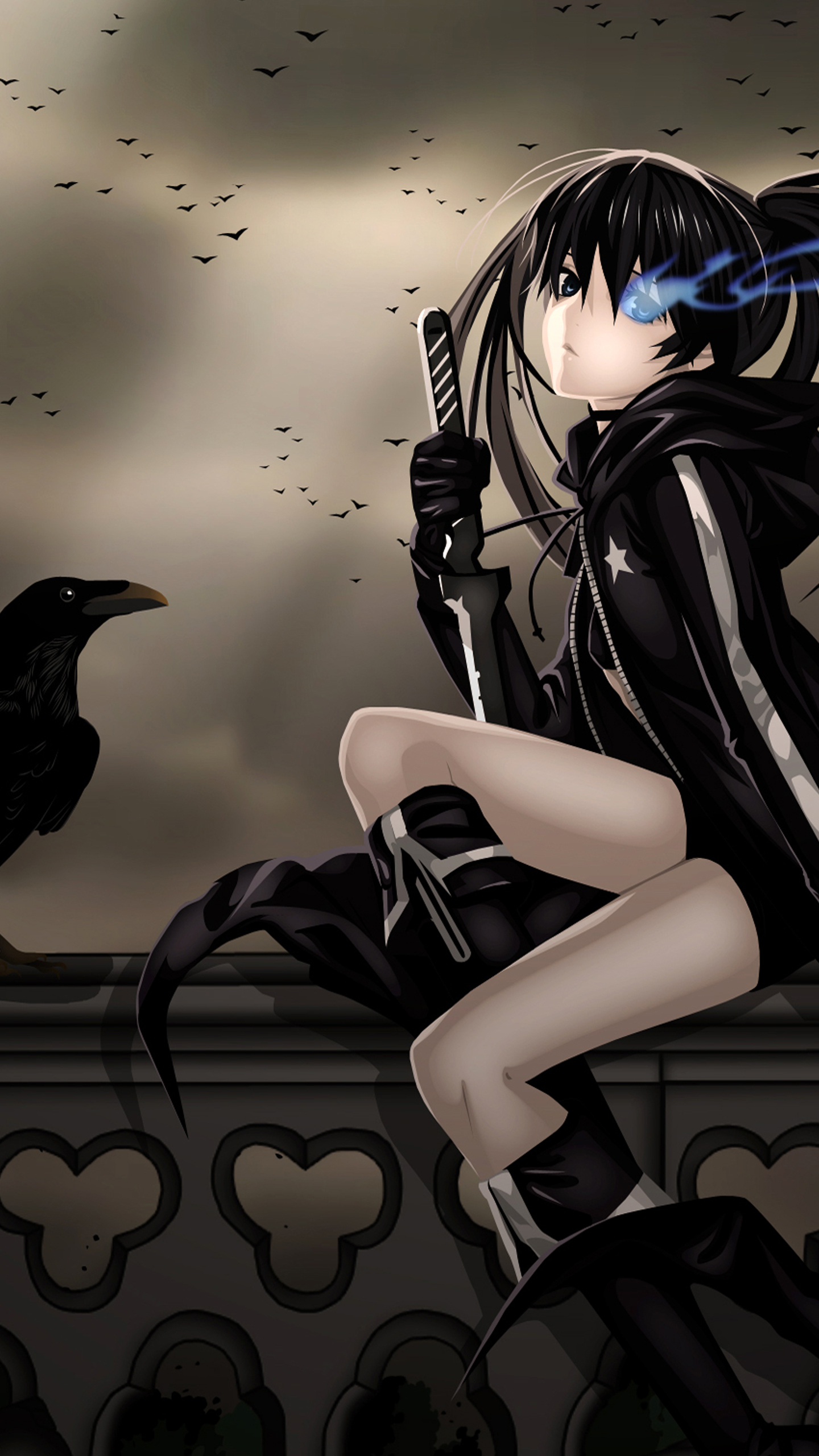Resolution 1440x2560 Wallpapers Raven girl Android Wallpapers 1440x2560