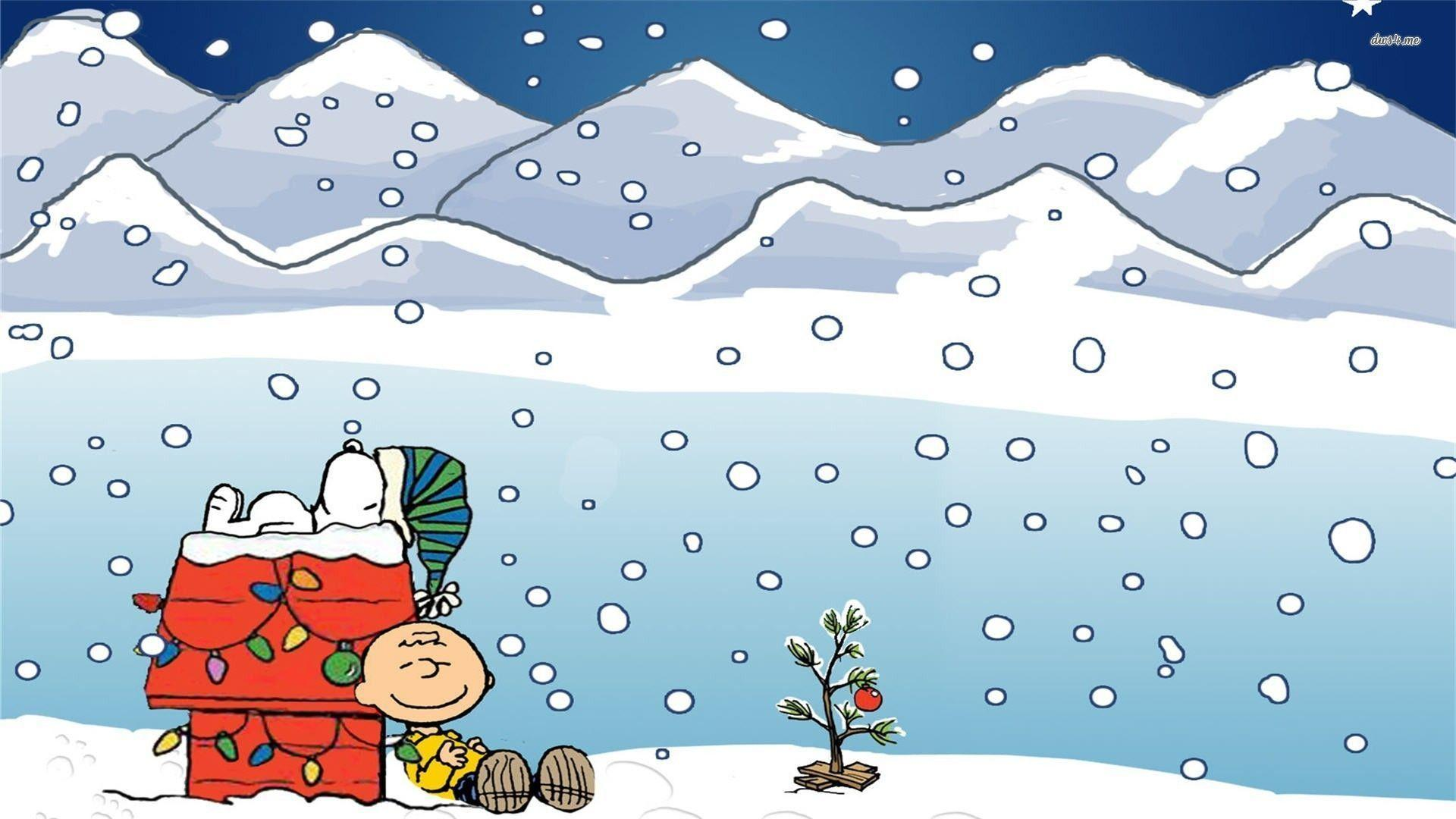 Snoopy Christmas Backgrounds 1920x1080