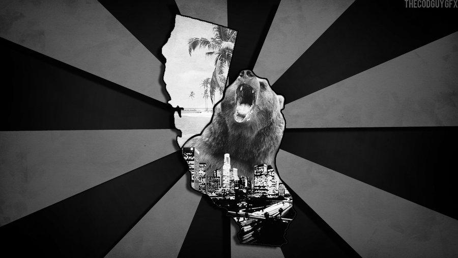 California bear la beach state hd wallpaper by TheCodGuy 900x506