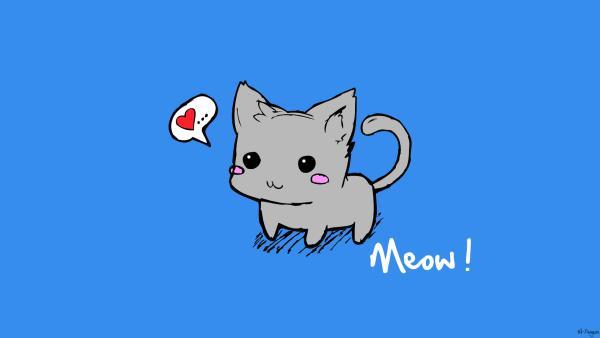 winter cat clip art
