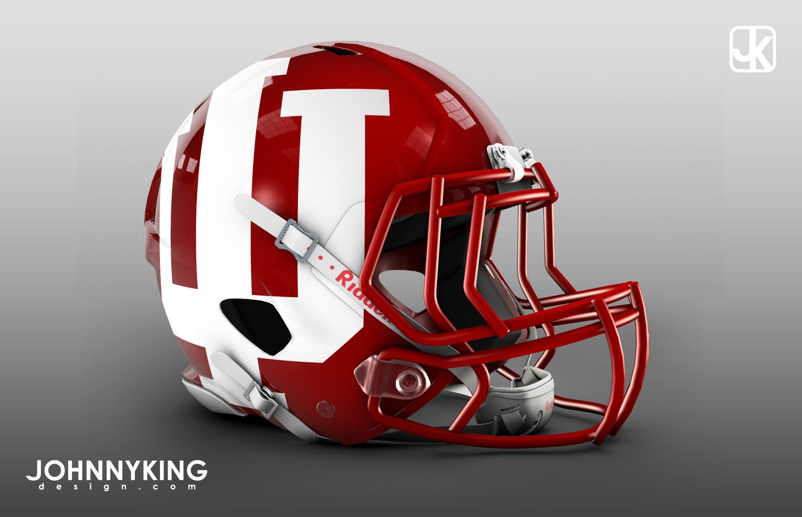 Indiana University Football Helmets for 2012 Alternates   Large IU 1600x1032