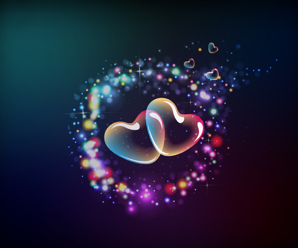 For Tablets Hearts 960x800 pixel 3d HD