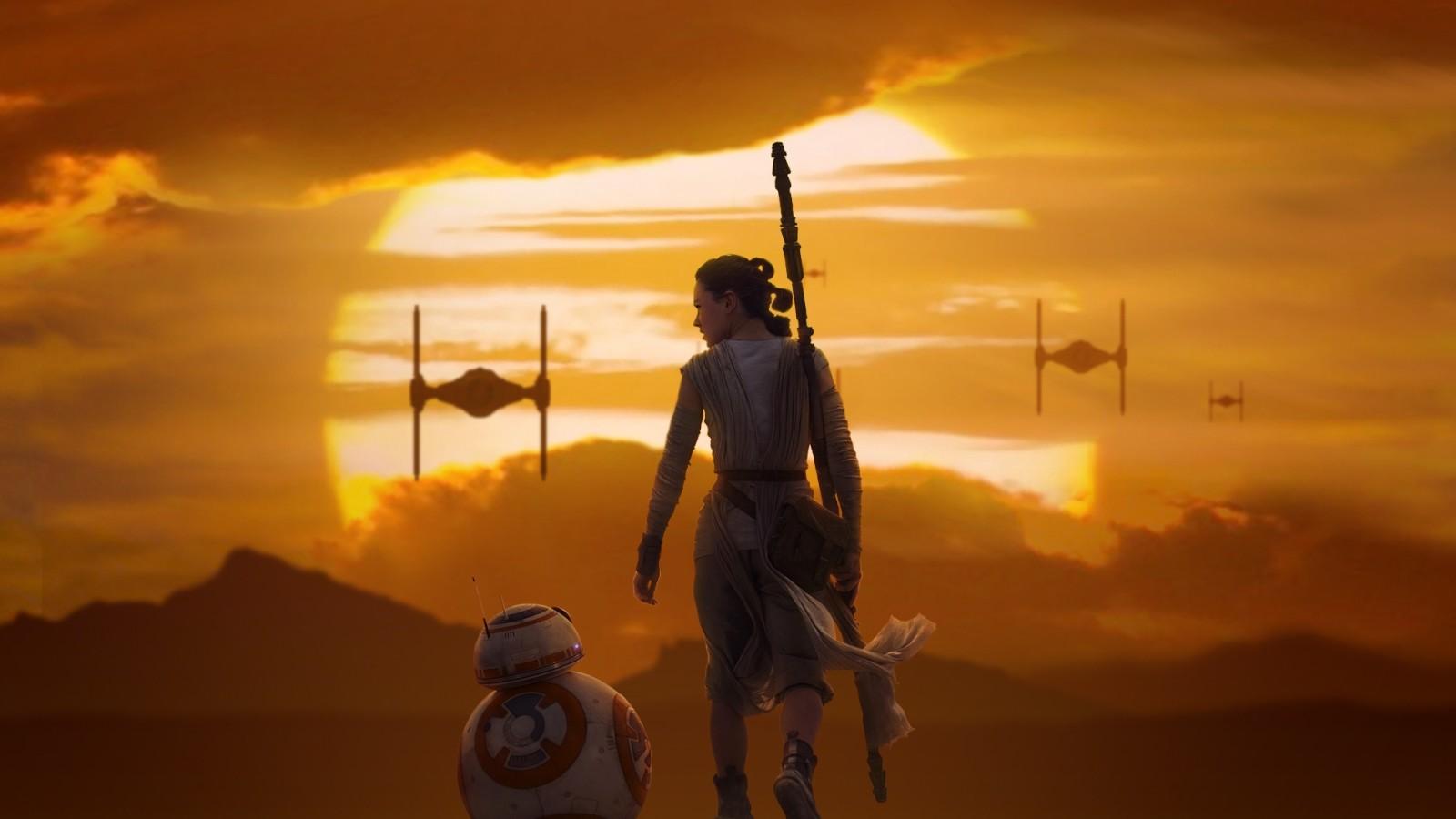 Rey BB 8 Star Wars The Force Awakens Wallpaper DESKTOP BACKGROUNDS 1600x900