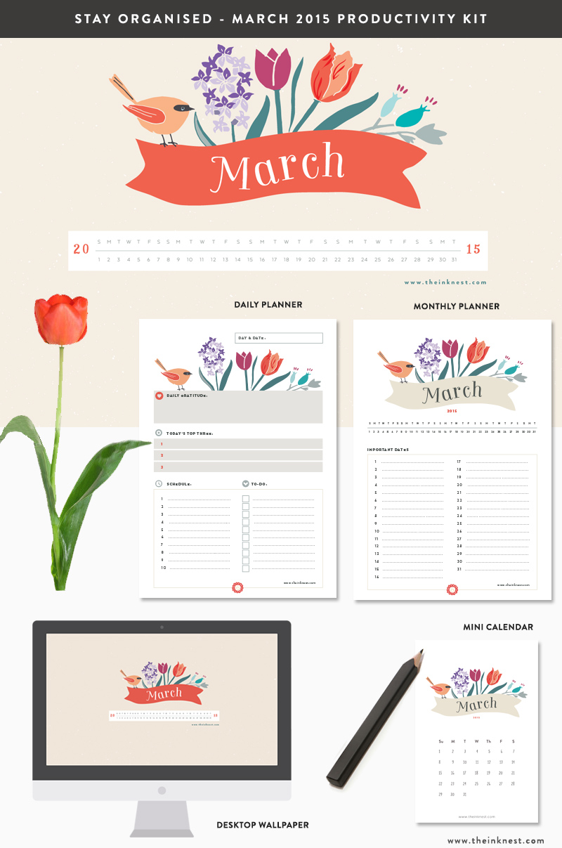 March 2015 Productivity Kit   The Ink Nest Blog 800x1207