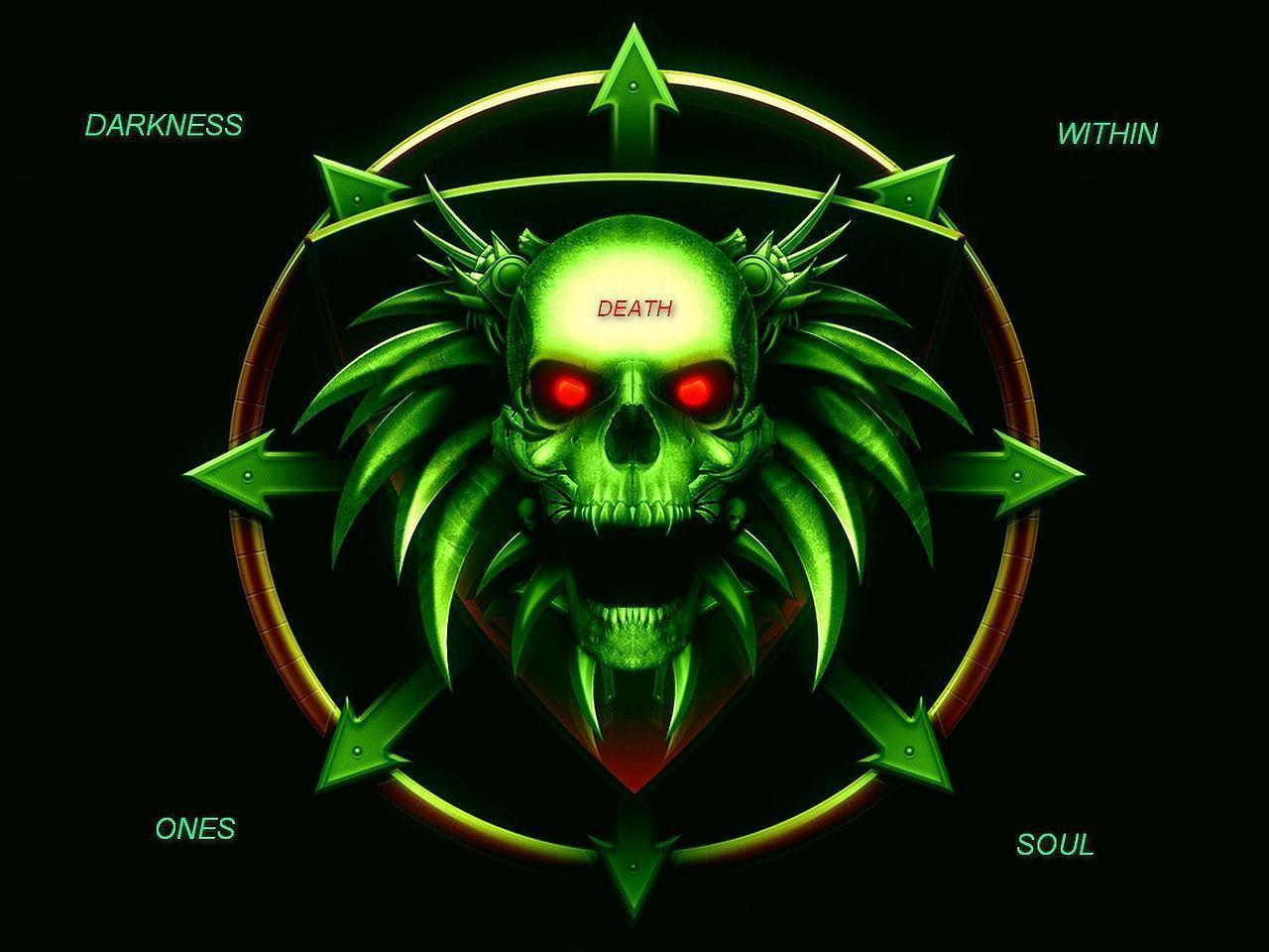 Green Skull Wallpapers 1280x960