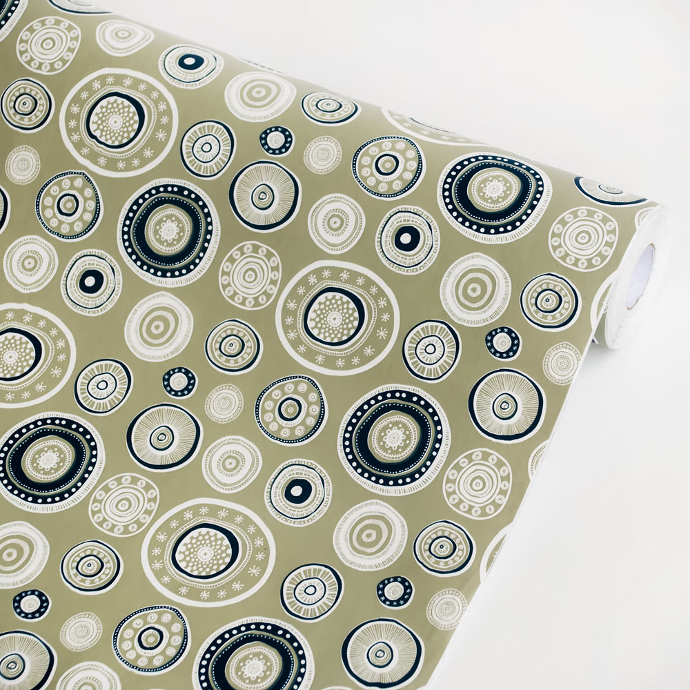 Capering Circle   Self Adhesive Wallpaper Home Decor Sample 1000x1000