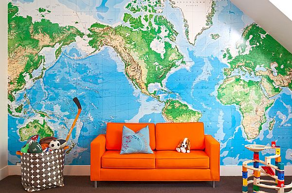 How to Use Old Maps in Home Decor 600x397