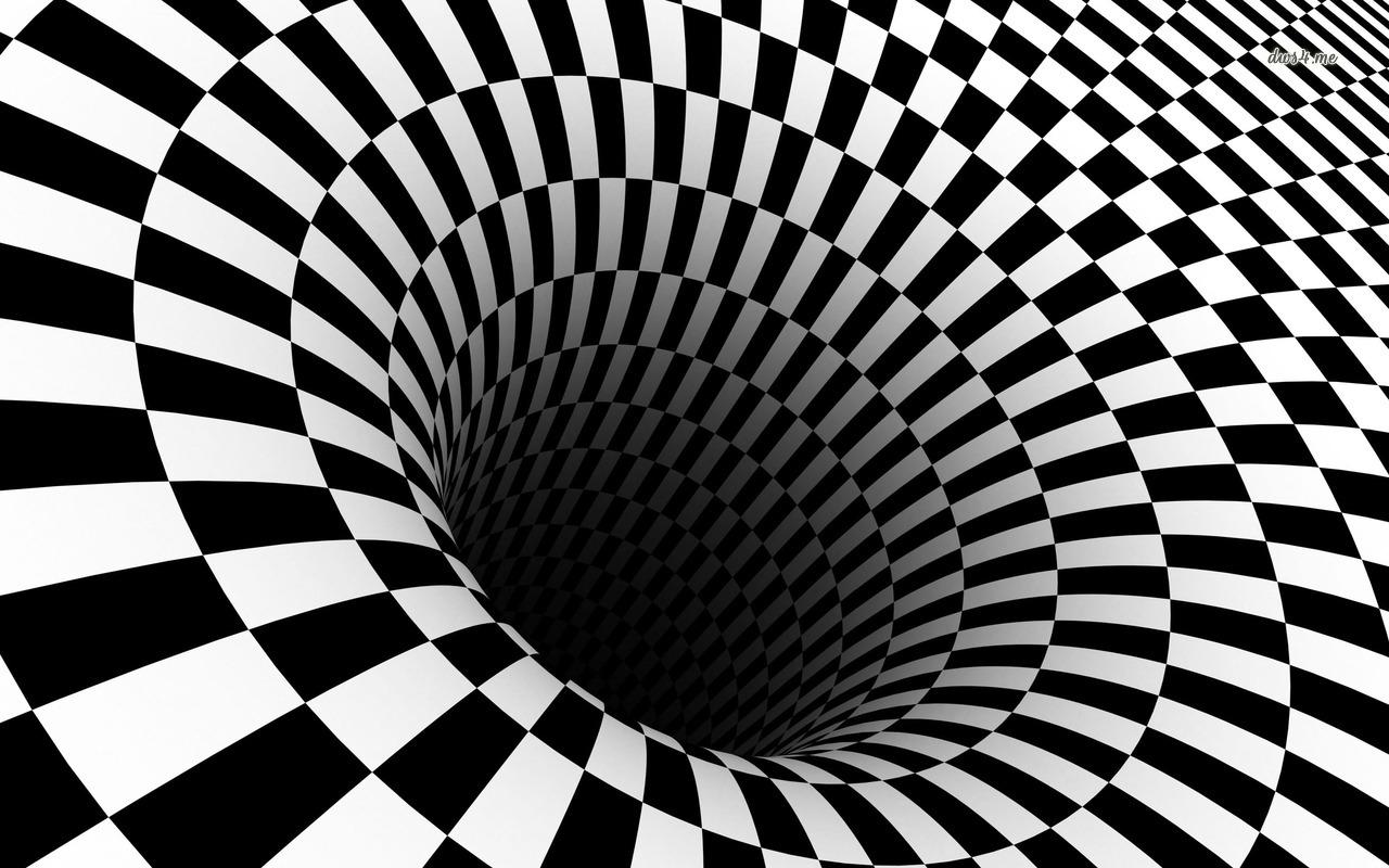 Checkered vortex wallpaper   3D wallpapers   15428 1280x800