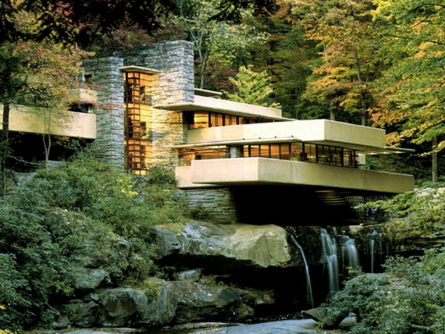 Where Is Frank Lloyd Wrights Home Falling Water Design Wallpaper 1440x1080