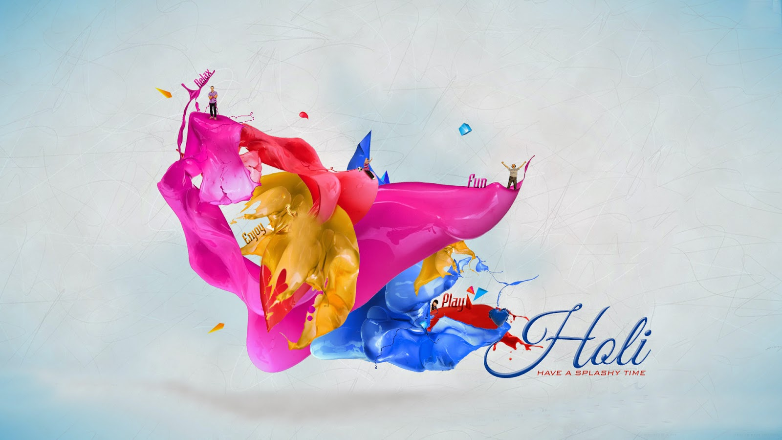 Happy Holi in India Desktop Wallpapers Pictures One HD 1600x900