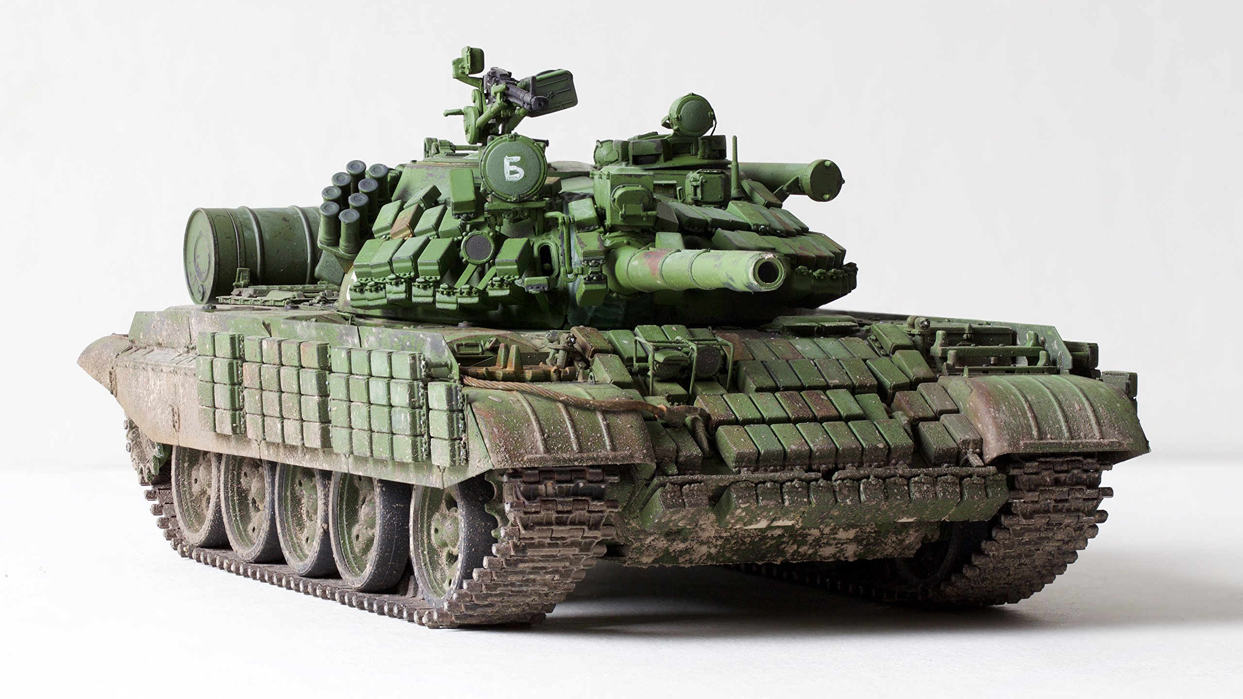 Photo tank Russian T 55 AMV toy White background military 2560x1440 2560x1440