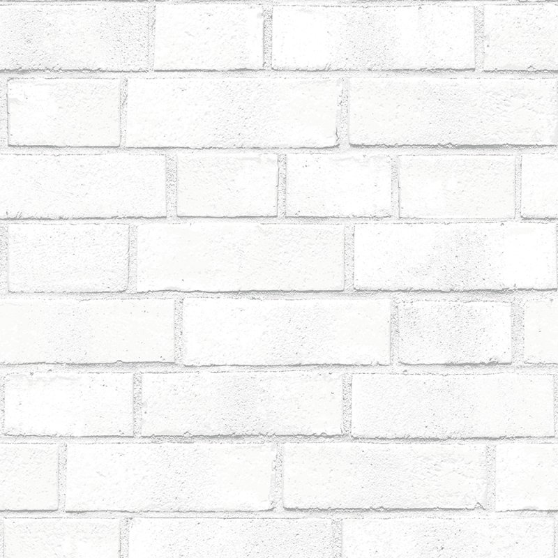 Brick Textured White Removable Wallpaper by Tempaper 800x800