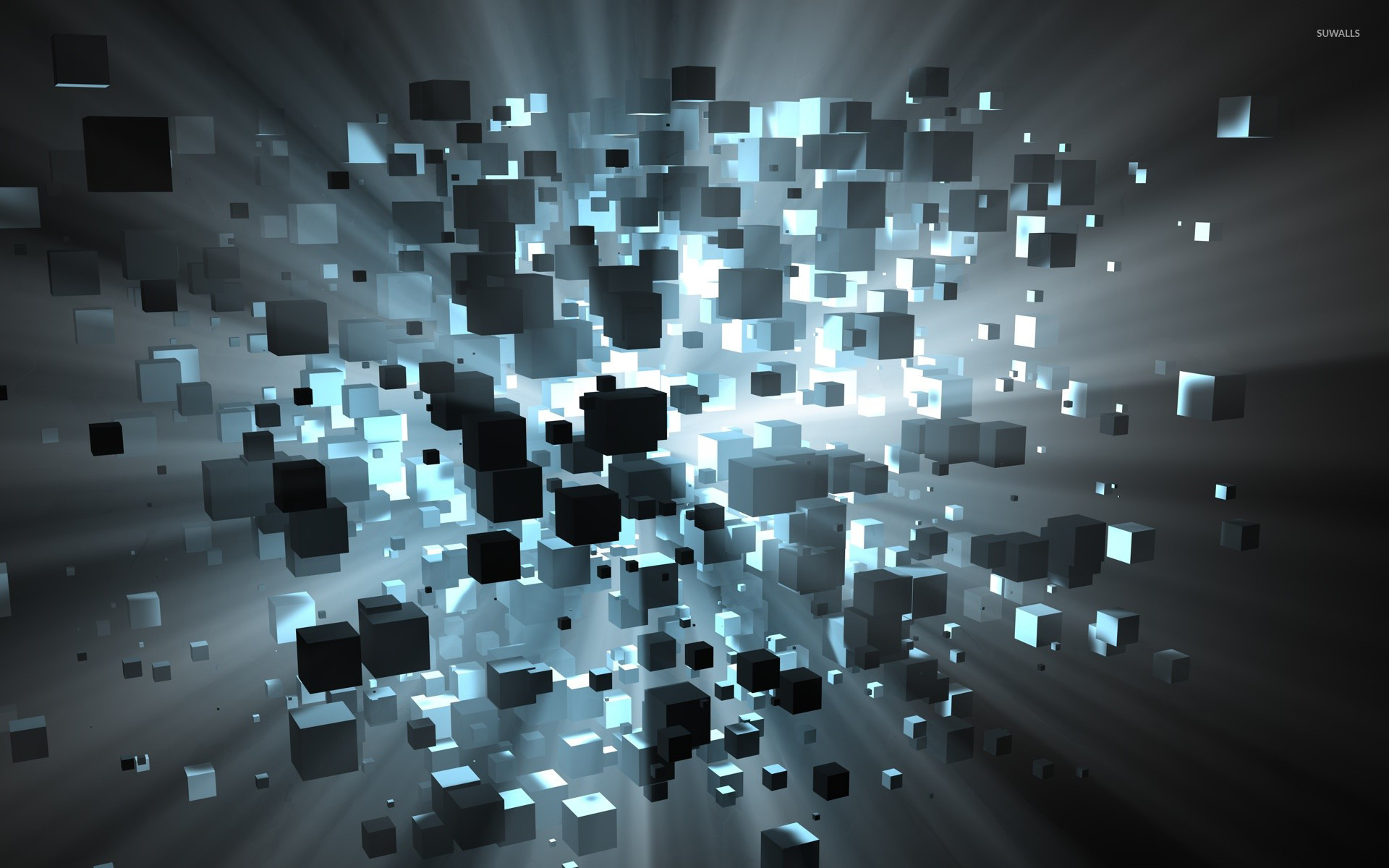 Floating cubes wallpaper   3D wallpapers   15772 1920x1200