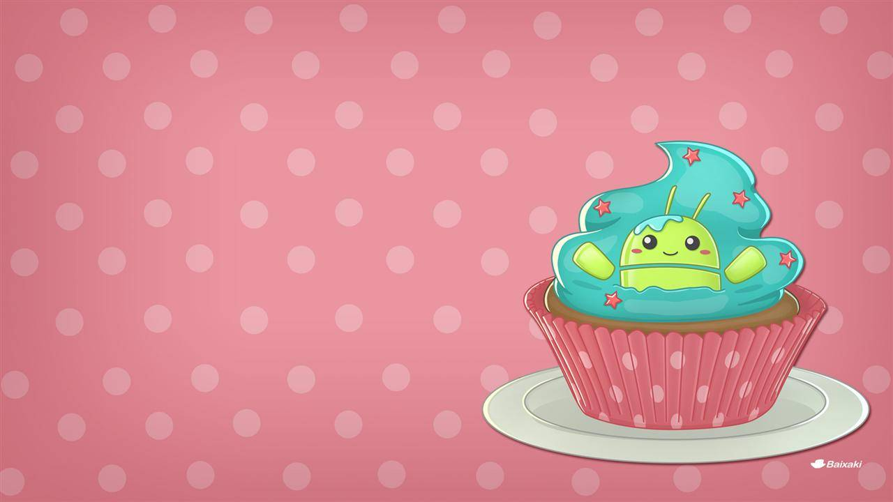 ANDROID CUPCAKE   Kawaii Wallpaper 1280x720