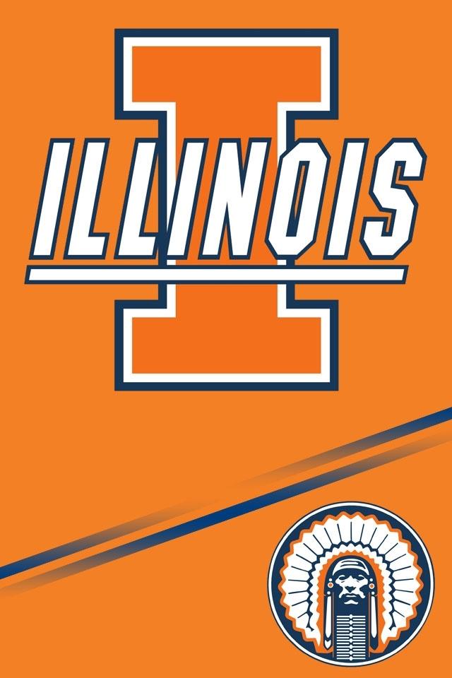 Illinois Fighting Illini wallpaper for iphone 4 640x960